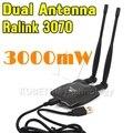Usb 2.0 sem fio BT-N9100 Beini internet de alta potência 3000 mW dupla OMNI antena Wifi Decoder Ralink 3070