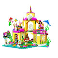 383 unids bela 10436 la sirena serie submarino palacio princesa juguetes de bloques de construcción ladrillos compatible kazi lepin bela sluban