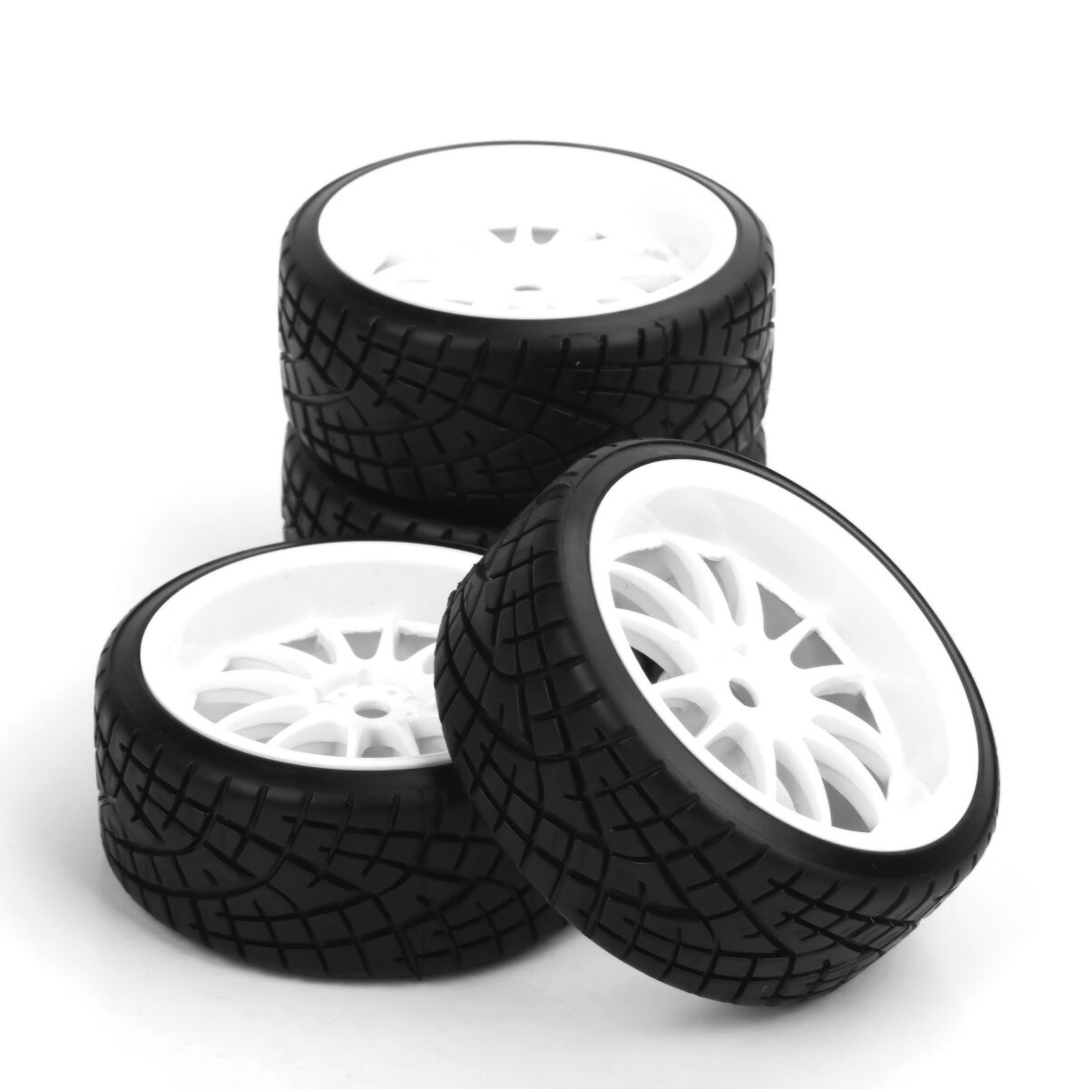 ARC0151 4Pcs <font><b>RC</b></font> Car Drift Tire <font><b>Wheel</b></font> Rim <font><b>Set</b></font> For HSP HPI Racing 1:10 <font><b>RC</b></font> Car 12mm Hex PP0290/069A Tires <font><b>Wheel</b></font> image
