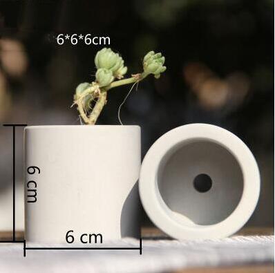 Moldes de silicone redondo vaso de flores