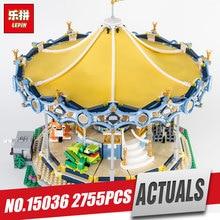Lepin 15036 2705Pcs Genuine Street Series The New Carousel Set Children Building Blocks Bricks Boy Toys Model Gifts 10257