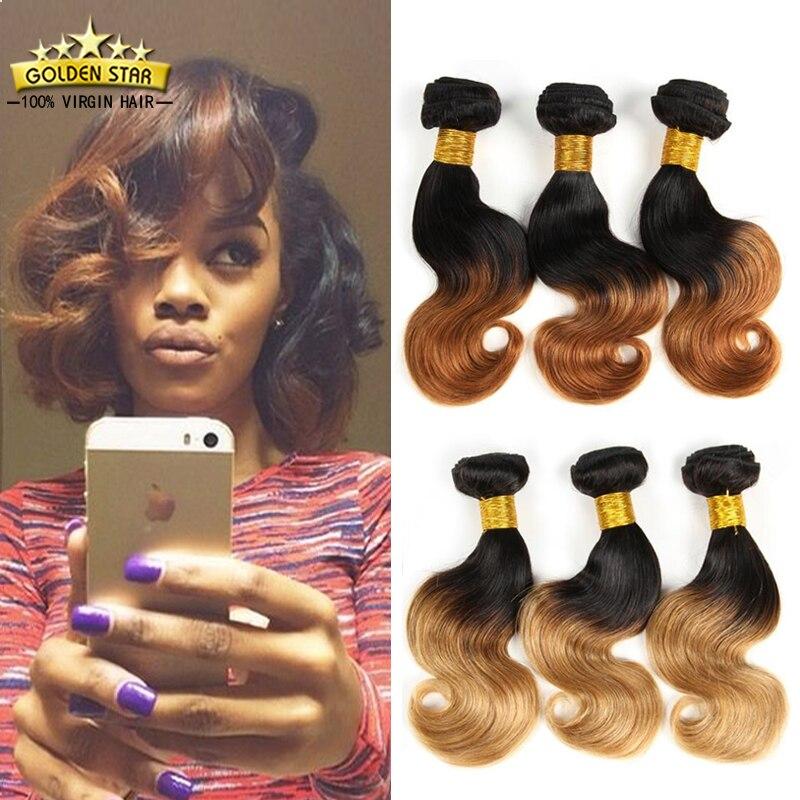 8A Short Ombre Brazilian Hair 3bundles Tissage Bresilienne