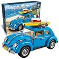 Бела 10566 Техника Volkswagen Beetle строительный кирпич блоки Игрушки для детей Автомобилей Гонщики Автомобилей Подарок Лепин 10252 21003