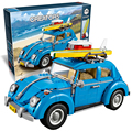 Bela 10566 Technic Volkswagen Beetle building bricks blocks Toys for children Car Racers Car Gift Lepin 10252 21003