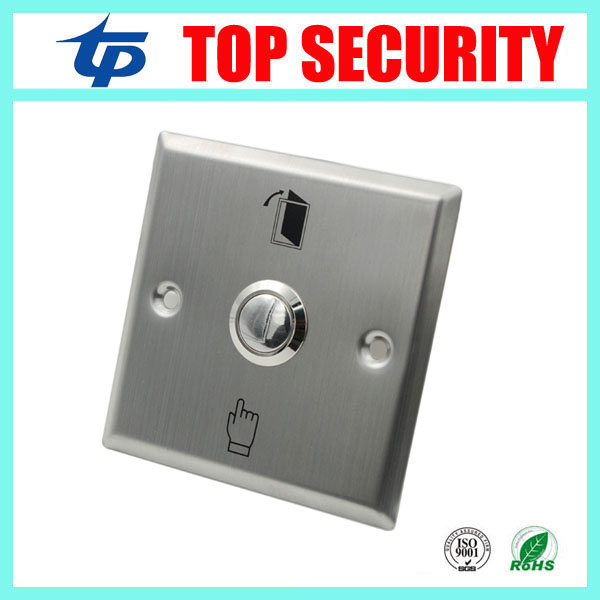 10pcs a lot free shipping good quality metal exit switch exit buttton 86 release exit button for access control system new arrival metal exit button exit switch with mushroom switch free shipping good quality security access control no exit button