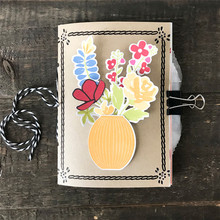 Naifumodo Rectangle Metal Dies Note Cutting for Scrapbooking Word DieCut Card Making New Letter Alphabet Stencil Album Embossing