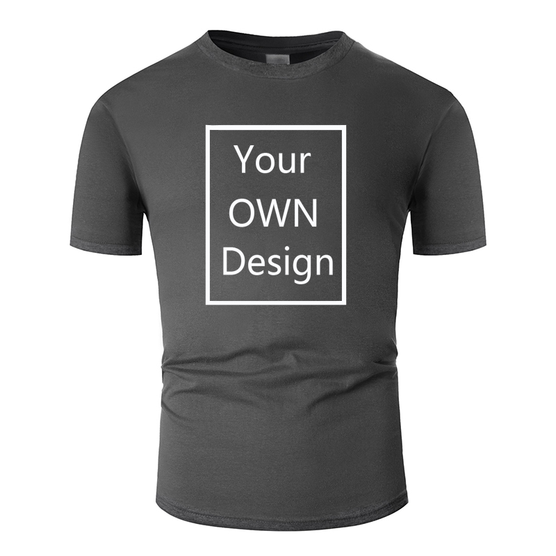 Your OWN Design Brand Logo/Picture Custom Men and women DIY Cotton T shirt Short sleeve Casual T-shirt tops Tee 13 color  tm001