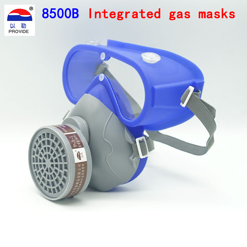 PROVIDE One type respirator gas mask Anti-fog Silica gel odorless respirator mask Painting Pesticide spray protective mask 3m 7702 advanced silicone protective mask comfortable type soft respirator mask painting graffiti respirator gas mask