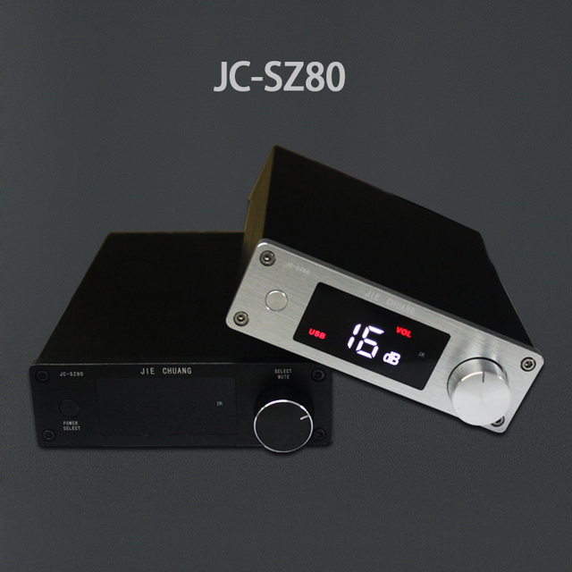 NEW JIE CHUANG JC-SZ80 pure digital amplifier 80W + 80W digital amplifier fiber coax pure USB   digital signal free shipping