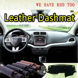 Dla dodge journey fiat freemont 2013 2014 2015 2016 2018 2019 skóra Dashmat pokrywa deski rozdzielczej mata na deskę rozdzielczą dywan niestandardowe Car Styling