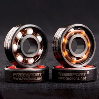 Freeshipping Roller Skates FreeSport 608RS Ceramic Ball Inline Skate Bearings Drift Plate