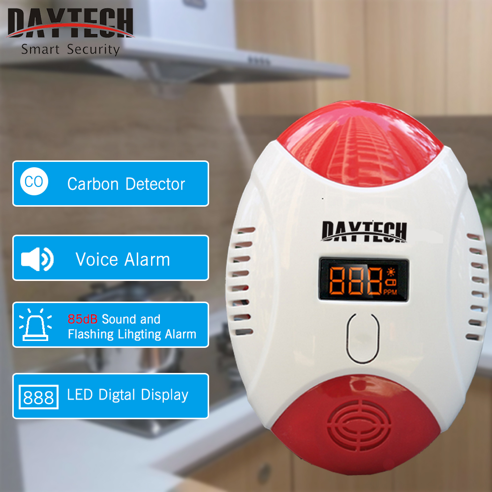 DAYTECH Carbon Monoxide Detector Sensor Alert CO Alarm Detector with LED Digital Display LED Flash Indicator CO Gas Carbon Alarm digital gas analyzers lcd co gas detector carbon monoxide measurement alarm detector 0 2000ppm