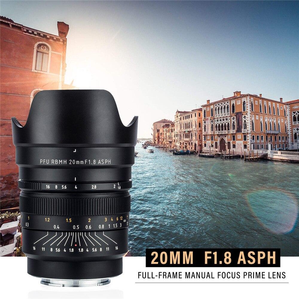VILTROX 20mm f/1 8 ASPH Full-Frame Wide Angle-Prime Fixed Focus for Camera  Sony NEX E A9 A7M3 A7RIV A7III A7S A6500 Nikon Z6 Z7