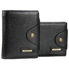 Genuiner cartera con monedero de Los Hombres de cuero bolsa de dinero cerrojo titular de la tarjeta monedero para los hombres