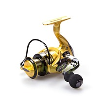 Free Shipping 13+1 BB Spinning Fishing Reel Metal Handle XF 1000 5000 Reels YUMOSHI Yellow