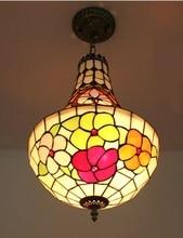 Tiffany LED Restaurant Kreative Zhler Bar Cafe Korridor Esszimmer Wohnzimmer Pendelleuchte Kassierer Beleuchtung Pendelleuchten