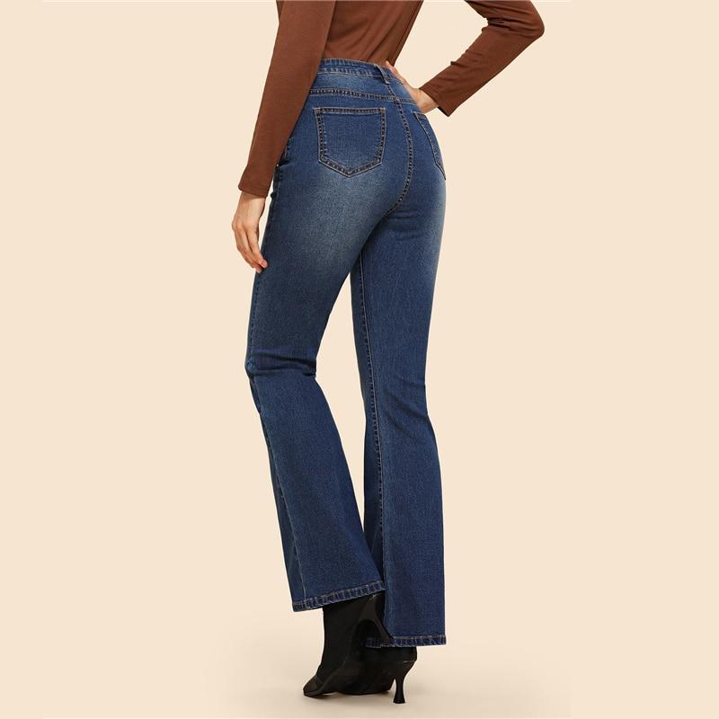 Flare USD สูงเอวกางเกงยีนส์ผู้หญิงกางเกงยีนส์กางเกงผู้หญิงกางเกง Sheinside 7