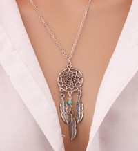N331 Best Deal Diomedes Retro Women Bohemia Tassels Feather Pendant Necklace Jewelry Dream Catcher Pendant Chain Necklace Gift