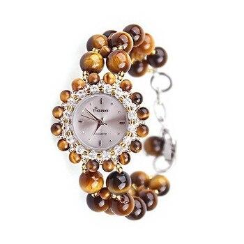 2020 Rushed Hot Sale Eana Brand Watch Wholesale Natural Tigereye Bracelet Fashion Ladies Birthday Gift