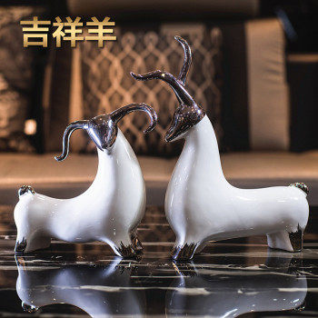 2015 fashion Modern brief ceramic crafts lucky sheep indoor decoration home decoration