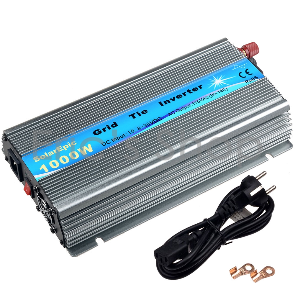 1000W Grid Tie Inverter DC20V-45V to AC110V Pure Sine Wave Power Inverter For 24V/36V 60cells/72cells Panel With MPPT Function mini power on grid tie solar panel inverter with mppt function led output pure sine wave 600w 600watts micro inverter