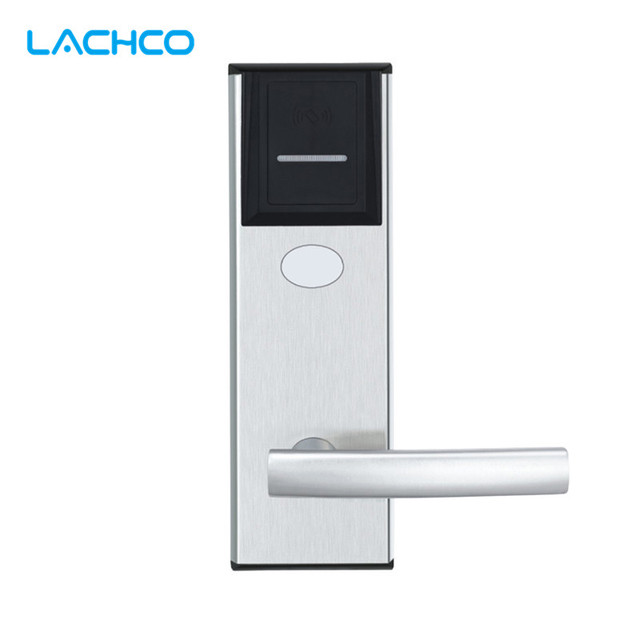 LACHCO Digital Electric Door Lock RFID Card Hotel Electronic Door Locks for Hotel Apartment Home Office Room  L16015BS