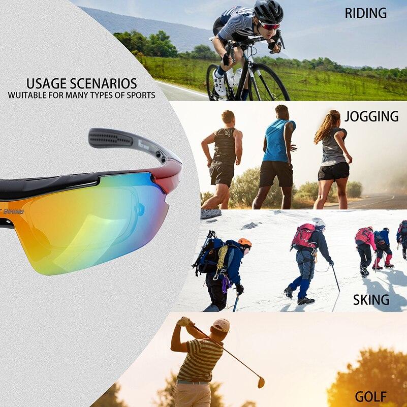 WEST BIKING 5 Lentes Ciclismo Óculos de Armação Mypia Homens Mulheres  Polarized Bicicleta Óculos de Bicicleta Óculos de Esportes Ao Ar Livre  Óculos de ... e1a267667a