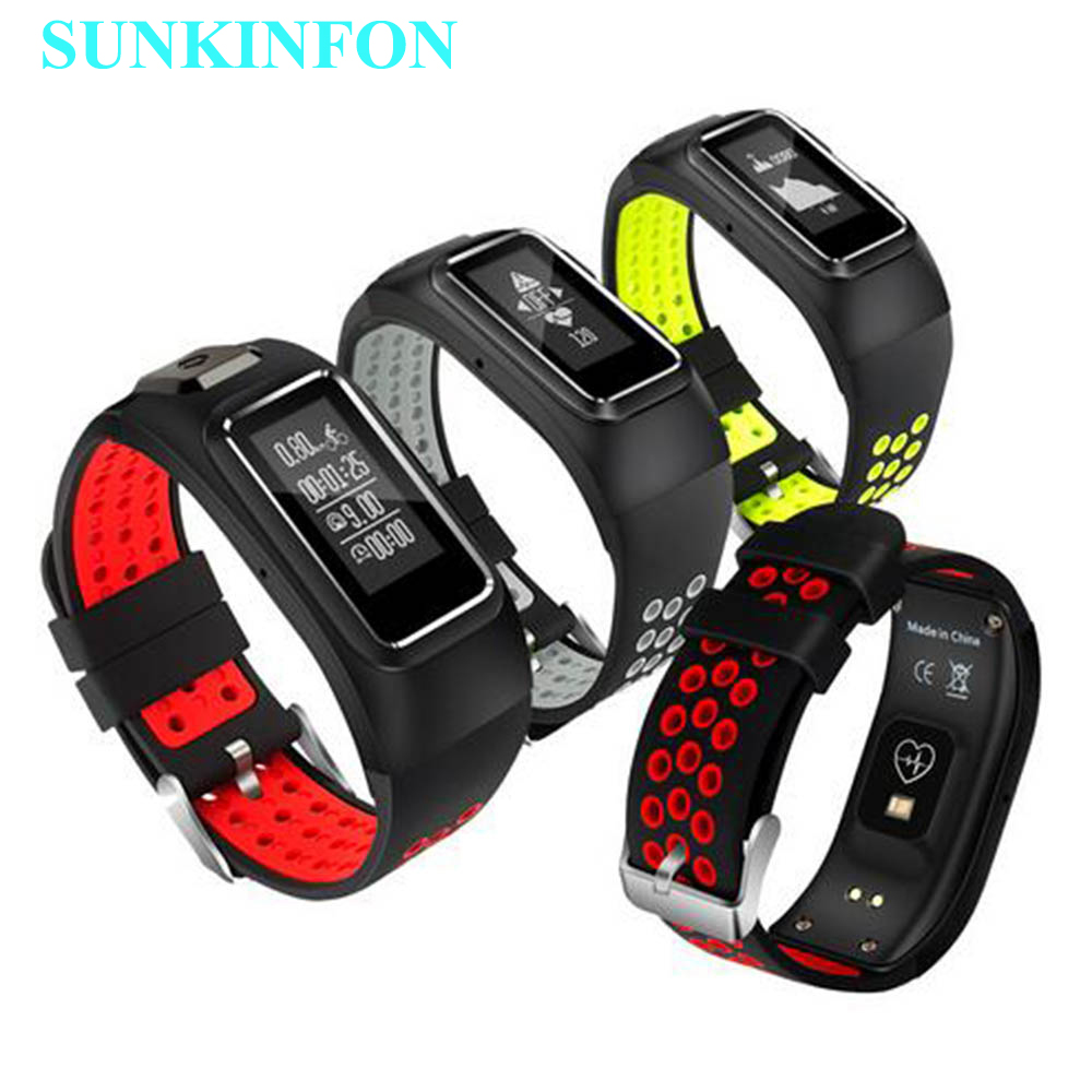 DB10 GPS Movement Motion Track Record font b Smart b font Wristband Dynamic Heart Rate Thermometer
