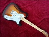 tl electric guitar double humbucker pickup, accept customsize,hollow body, custom shop