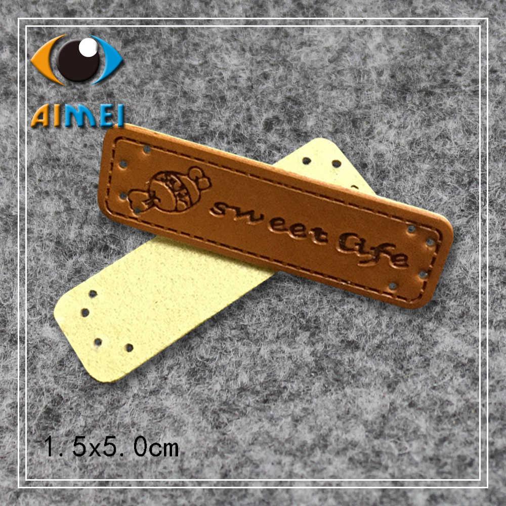 8eb261aa6541 Конфеты логотип ручной работы маленькая кожа кожаные бирки сладкий Лифт ручной  работы кожаные этикетки для любви