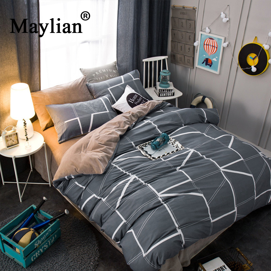 Special Offer New Arrival Duvet Cover Bed Sheet Maylian Printed Crystal Four Pieces Home Textile Double Bed Suite Linen BE1088