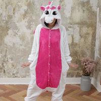 Vanled 2017 Women Pink Unicorn Pajama Overall Unisex Flannel Adults Cosplay Pajamas Animal Onesies Sleepwear Hoodie
