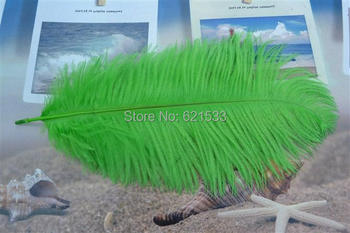 Wholesale! Beautiful Nature Ostrich Feathers 18-20inch 45-50CM Lime Green Colour freeshipping