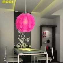 Современный Минималистский Подвеска свет Волна мяч Подвесной Светильник Пластиковые Складки Освещение Лампа Для Ресторана Деко