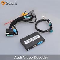 Автомобильная камера заднего вида адаптер конвертер видео декодер для Audi A3 A4L A5 A6L A7 Q7 S3 монитор измеряет динамическое отслеживание радар VGA