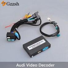 Macchina fotografica di retrovisione adattatore video decoder per Audi A3 A4L A5 A6L A7 Q7 S3 con tracciamento dinamico radar VGA HD interfaccia di input