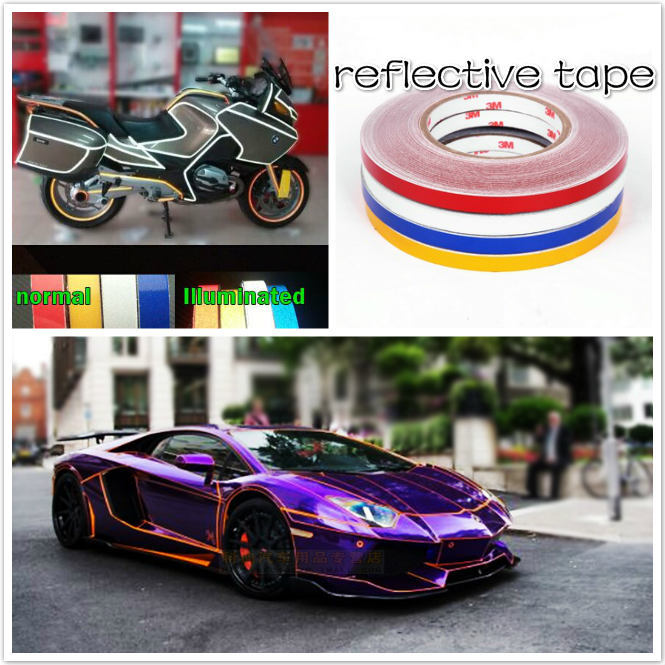 1cm X 5M 3M car Motorcycle reflective tape sticker original 3M brand with free shipping
