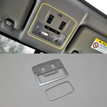 Car Accessories Interior Decoration ABS Front & Rear Light Lamp Cover Trim 2pcs For Toyota RAV4 2016 Car Styling bjmycyy car styling car front reading lamp decoration frame for toyota rav4 2014 auto accessories