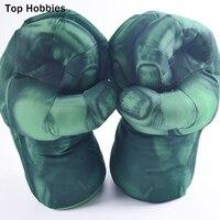 1 пара = 2 шт. игрушки человек паук перчатки для бокса Халк Зеленый гигант забавные плюшевые вентиляционное отверстие большой Перчатки 30*20 см ...