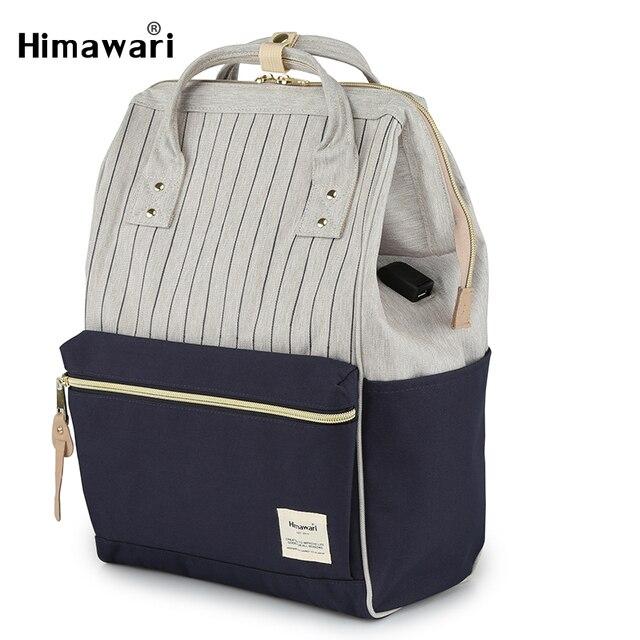 Himawari Học Thời Trang Ba Lô Cho Bé Gái Cổ Điển Du Lịch Ba Lô Laptop Nữ Túi Preppy SCHOOLBAGS Bolsa