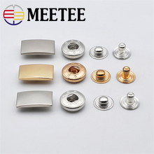 10sets Meetee Metal Press Studs Snap Fastener Buttons for DIY Sewing Bags Garment Coat Down Jacket LeatherCraft Accessories D1-2