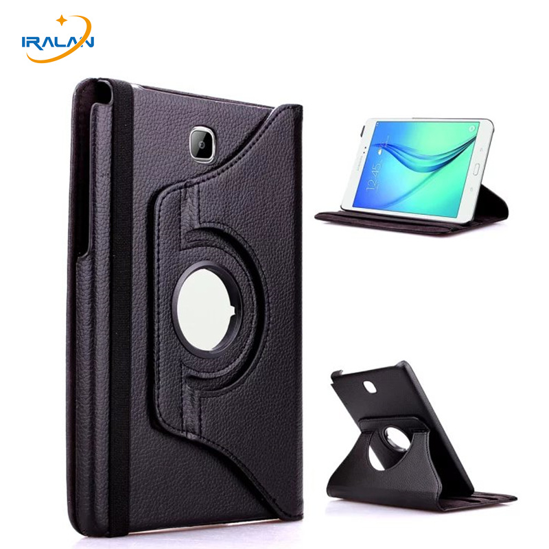 Hot Case For Samsung Galaxy Tab A 8.0 SM-T355 T350 360 Rotating Stand PU Leather Cover for Samsung Tab A 8.0 T350+film+stylus for samsung galaxy tab a 8 0 sm t350 t351 t355 luxury stand folio flip pu leather skin magnetic smart sleep cover case film