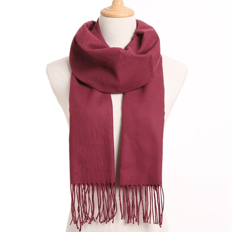 [VIANOSI] клетчатый зимний шарф женский тёплый платок одноцветные шарфы модные шарфы на каждый день кашемировые шарфы - Цвет: 59