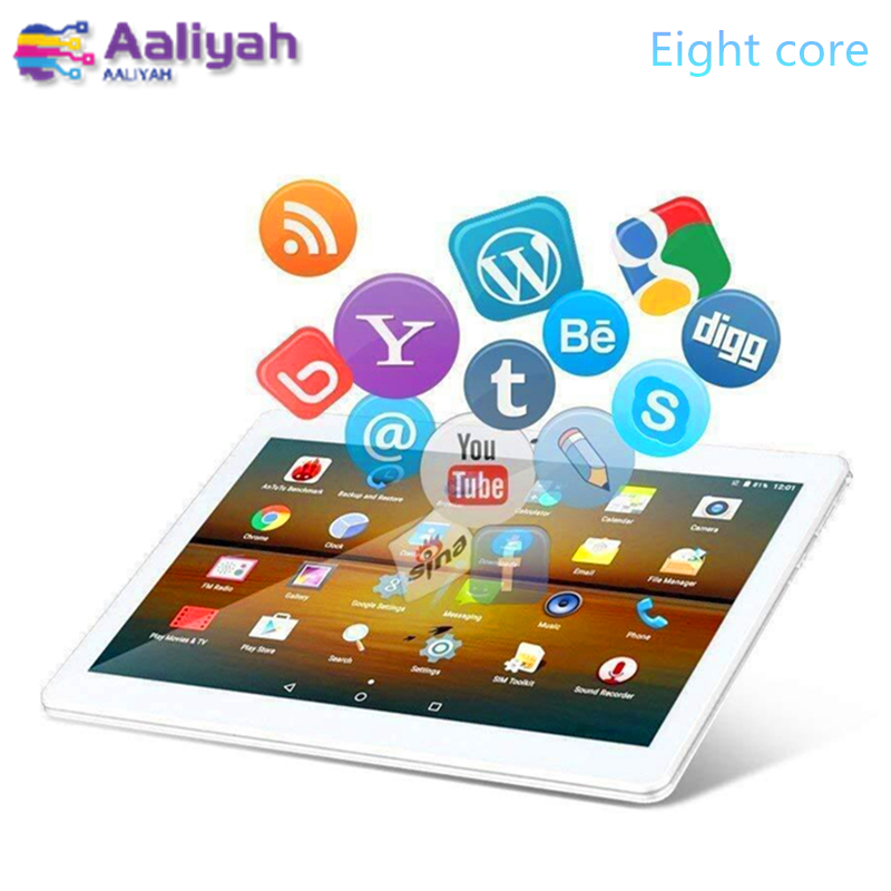 Tablet 10.1 inch Android 7.0 Eight core 3G Call Tablet Pc 1280x800 screen multi touch2GB+32GB WiFi laptop tablets GPS