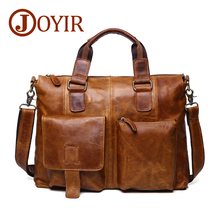 hot deal buy joyir genuine leather men bag men briefcases men messenger bag male leather business computer laptop bags crossbody bags handbag