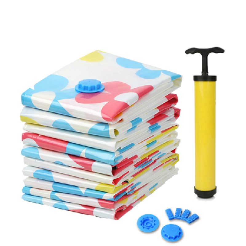 E Saving Storage Bags Vacuum Seal Hand Pump Clothes Bedding Compressed Organizer Package Bag S M L In Baskets From Home Garden On