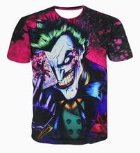 2017 casual Poker clown hiphop males concert shirt O-neck sweatshirt 3d print women/men cartoon pullover summer Tees T-shirts