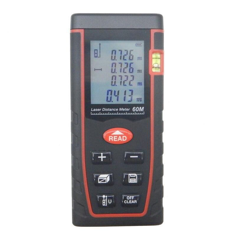 Digital laser rangefinder SW-T60 197ft distance meter range finder Area-volume-Angle Tester tool New hot Home decoration Genuine  цены