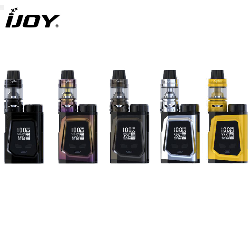 Original IJOY CAPO 100 Kit Captain Mini Subohm TankWith 21700 Battery E-Cigarettes CAPO 100W Box MOD original ijoy saber 100 kit with 5 5ml diamond subohm tank 100w saber 20700 battery box mod electronic cigarette