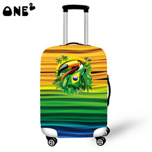 ONE2 Design Tropical birds Printing Cover Apply to 22,24,26 Inch Suitcase promotional Luggage cover